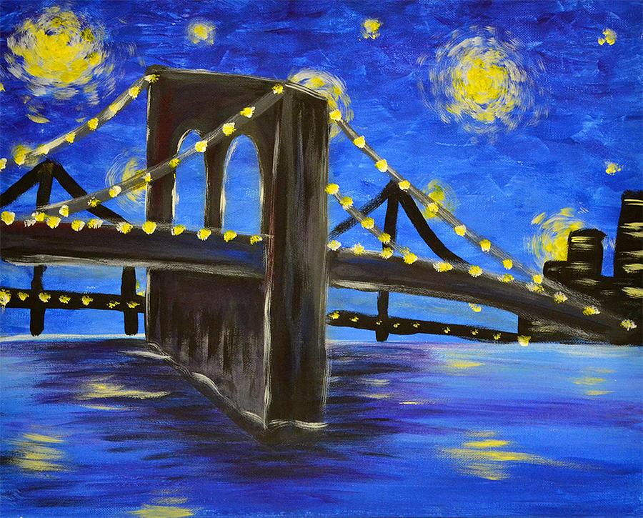 Nyc Painting - Brooklyn Bridge by Eric Danielson