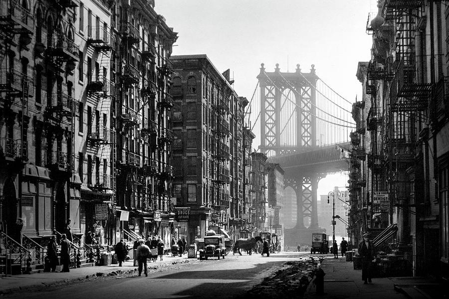 Brooklyn Bridge From Manhattan 1930 S Photograph By