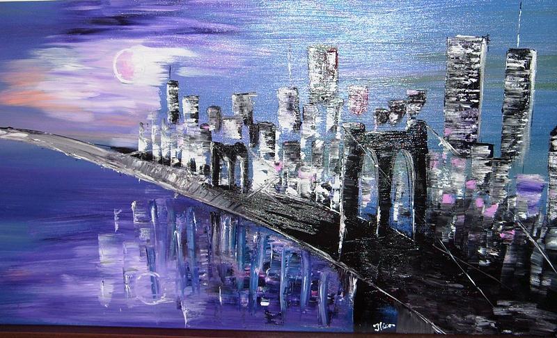 Paintings Painting - Brooklyn Bridge by Ilica Ana maria