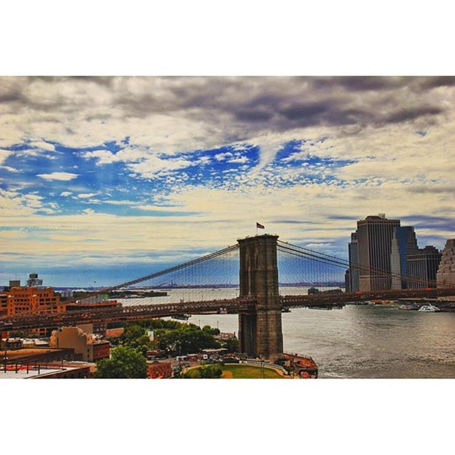 Bridge Photograph - #brooklyn #bridge #nyc #usa by Luisa Azzolini