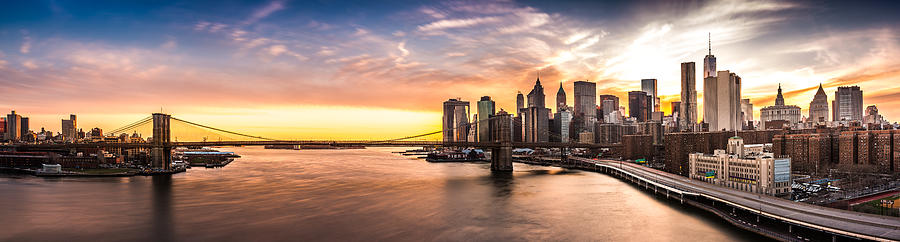 Brooklyn Bridge panorama by Mihai Andritoiu