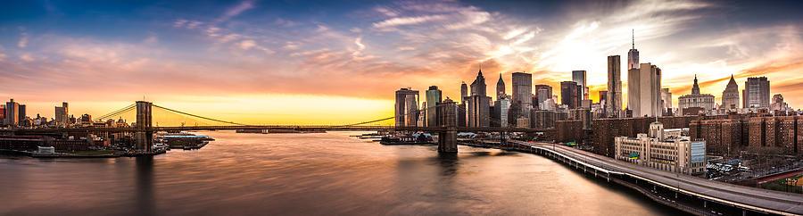 Brooklyn Bridge panorama by Mihai Andritoiu