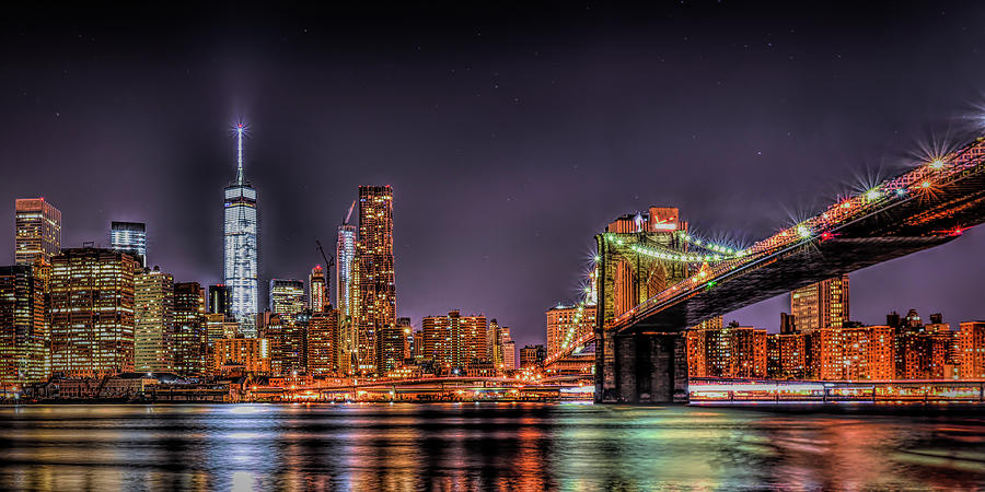 Brooklyn Bridge Park Nights by Theodore Jones