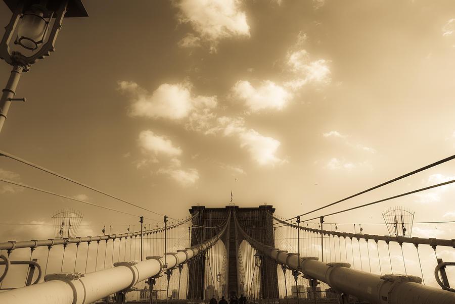Bridge Photograph - Brooklyn Bridge by Patrick  Flynn