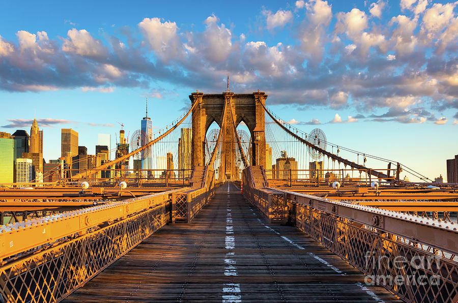 Brooklyn Bridge Sunrise Photograph By Inge Johnsson