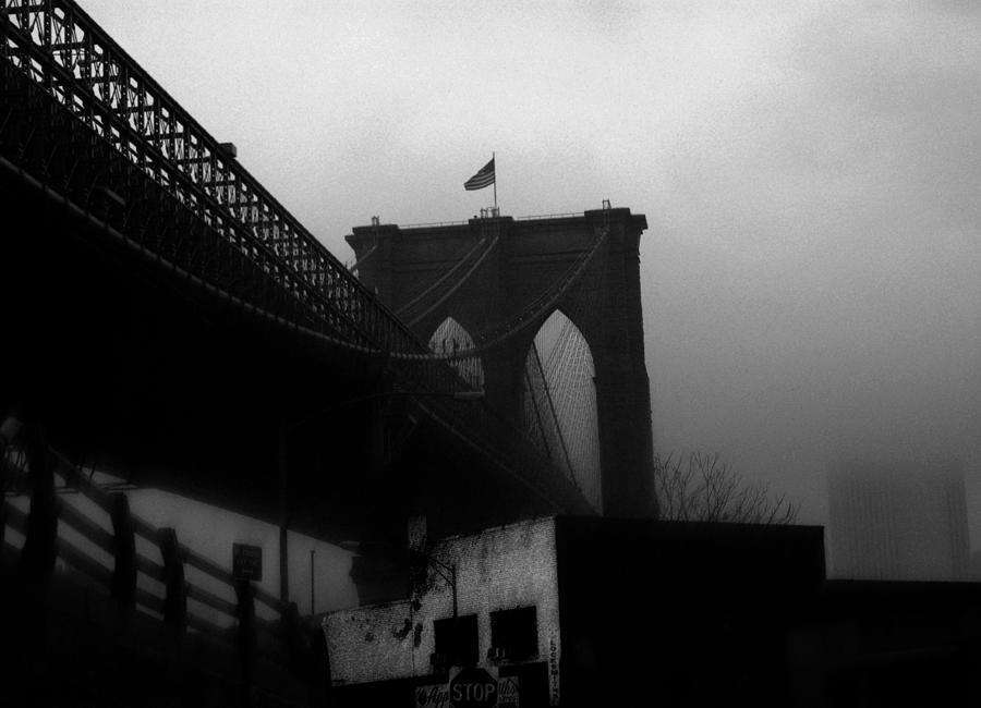 Brooklyn Bridge Photograph - Brooklyn Bridge Through The Windshield by Todd Fox