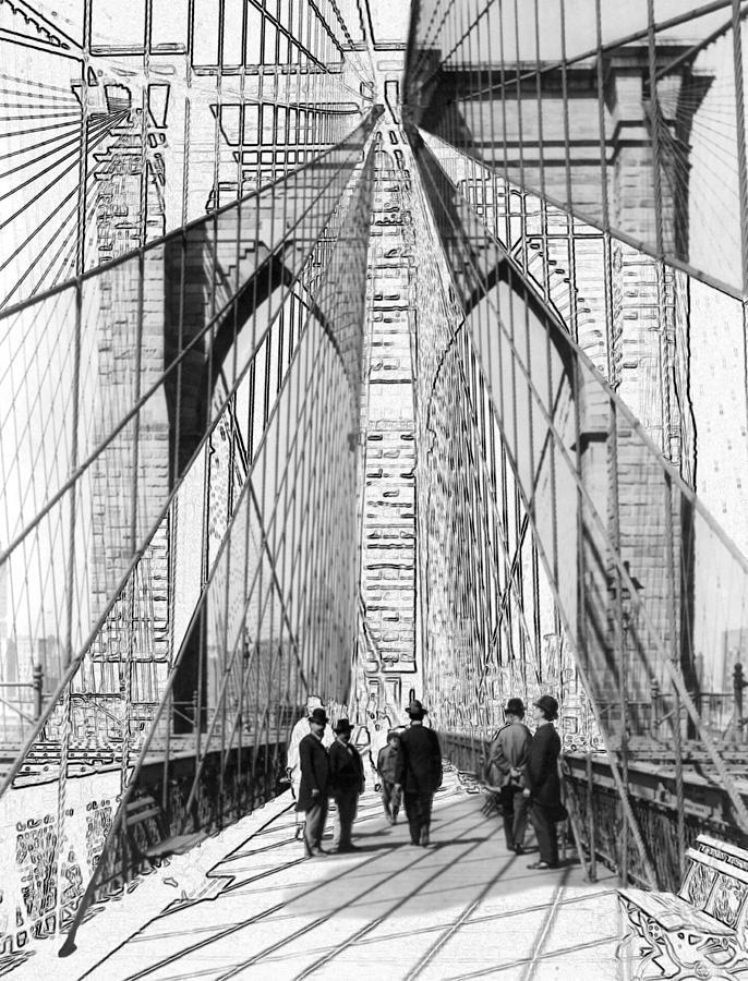 Brooklyn Bridge Photograph - Brooklyn Bridge Vintage Photo Art by Karla Beatty