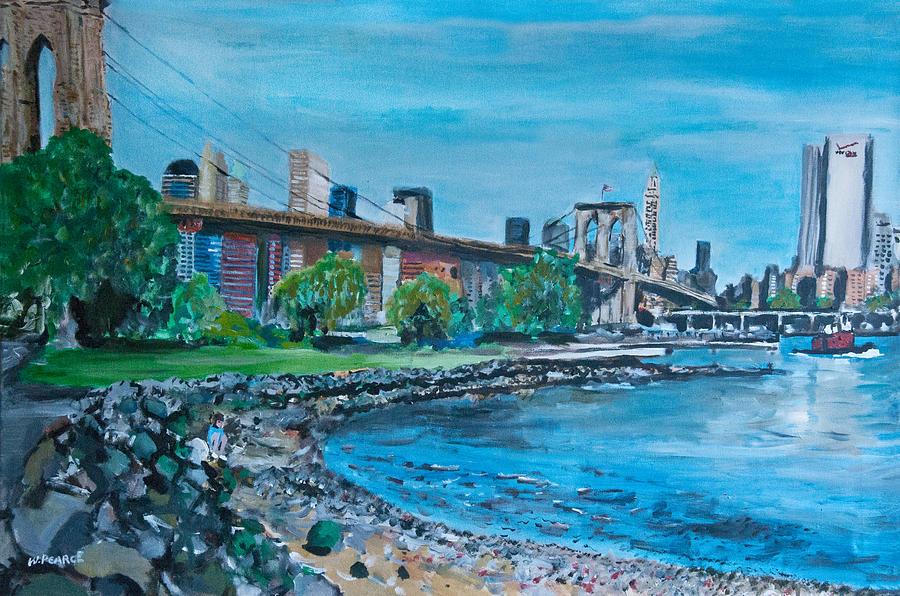 Street Scene Painting - Brooklyn Bridge by Wayne Pearce