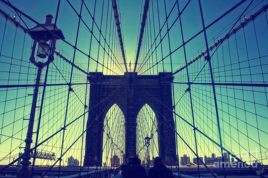 Brooklyn Bridge Wide Angle Photograph