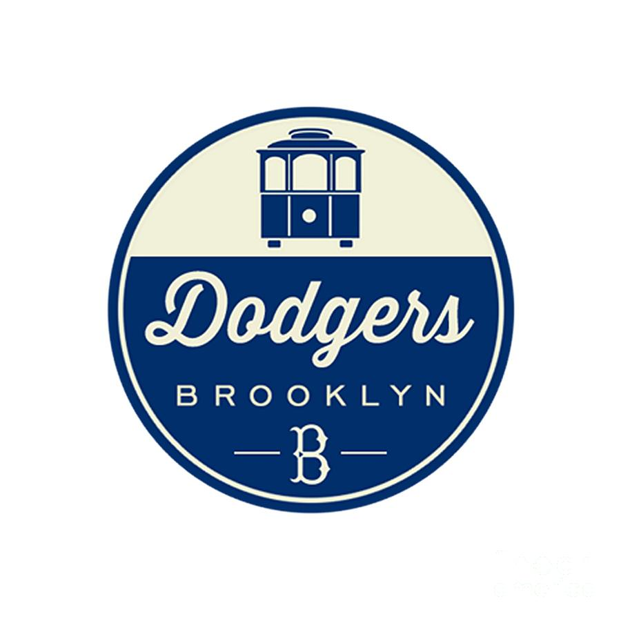 brooklyn dodgers retro logo digital art by spencer mckain