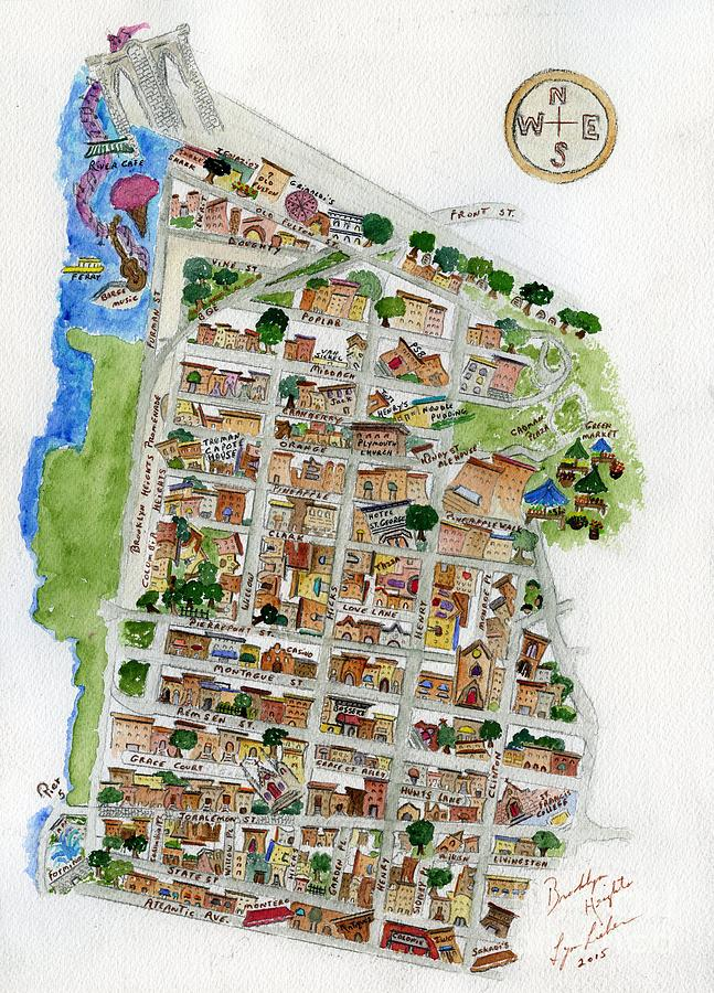 Brooklyn Heights Map by AFineLyne