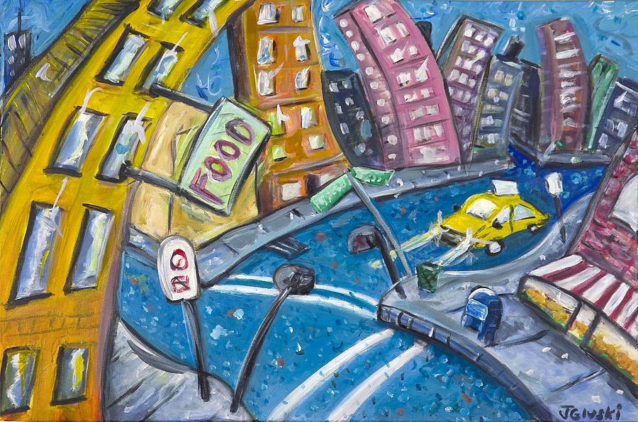 Hipster Painting - Brooklyn by Jason Gluskin