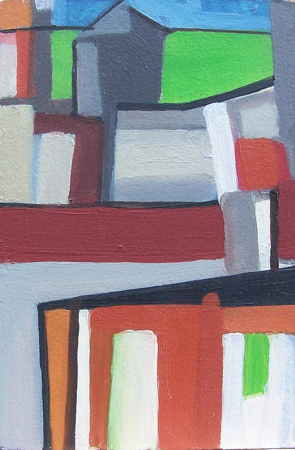 Cityscape Painting - Brooklyn Roofs by Ron Erickson