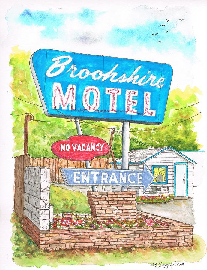 Brookshire Motel In Route 66, Tulsa, Oklahoma Painting