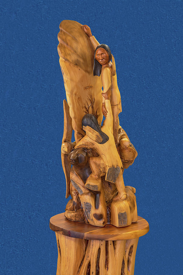 Artwork Photograph - Brother 2, Carved Out Of A Dead Tree By Scott Alan Malinsky In Twin Lakes, Colorado  by Bijan Pirnia