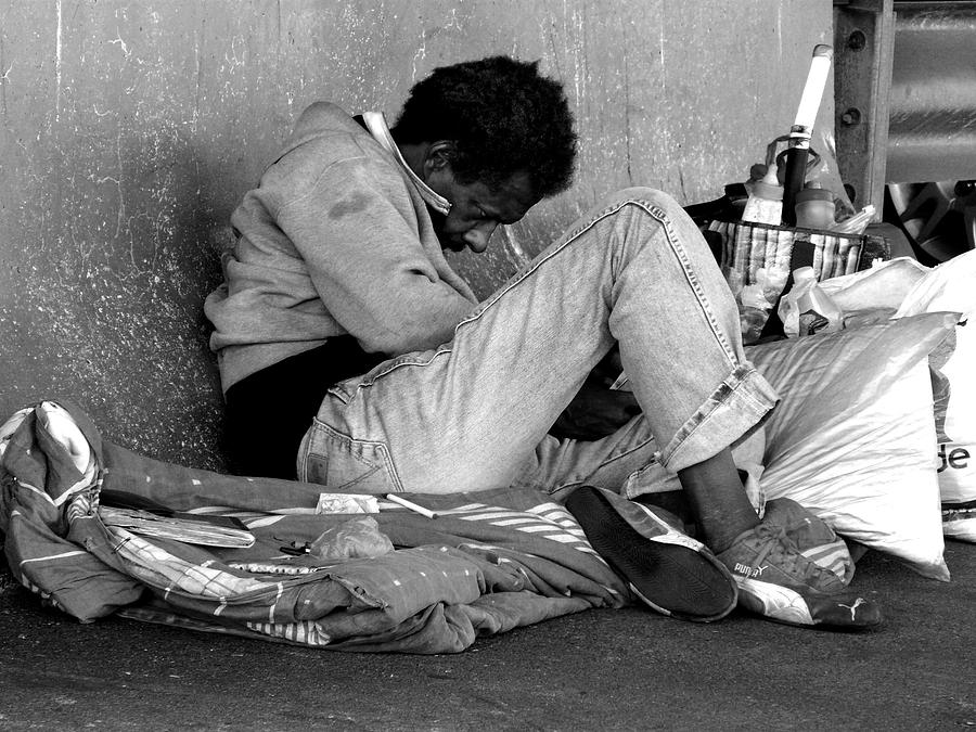 Homeless Photograph - Brother Can You Spare A Dime by Kendall Eutemey
