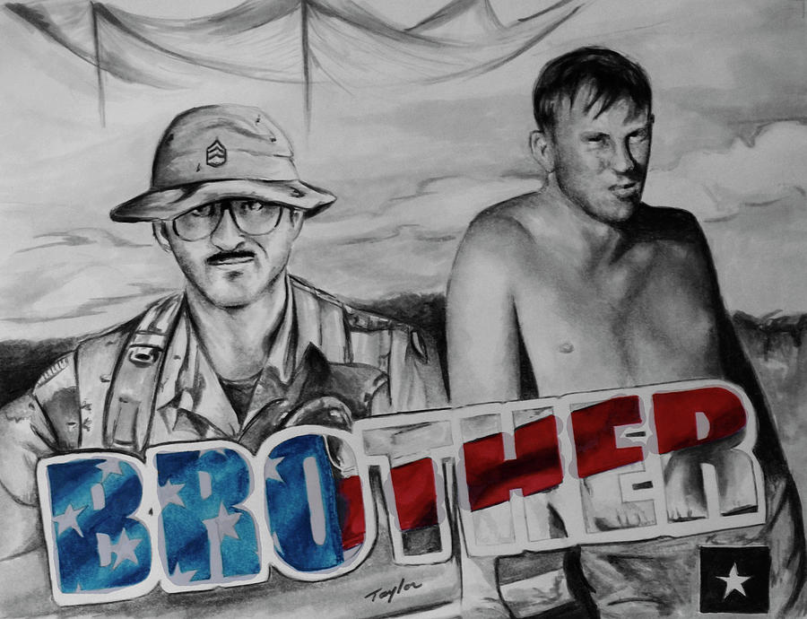 Veteran Drawing - Brother by Laura Taylor