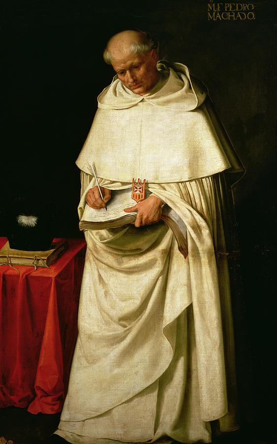 Brother Painting - Brother Pedro Machado by Francisco de Zurbaran