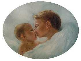 Brotherly Love Painting by Ruth Ann Sturgill