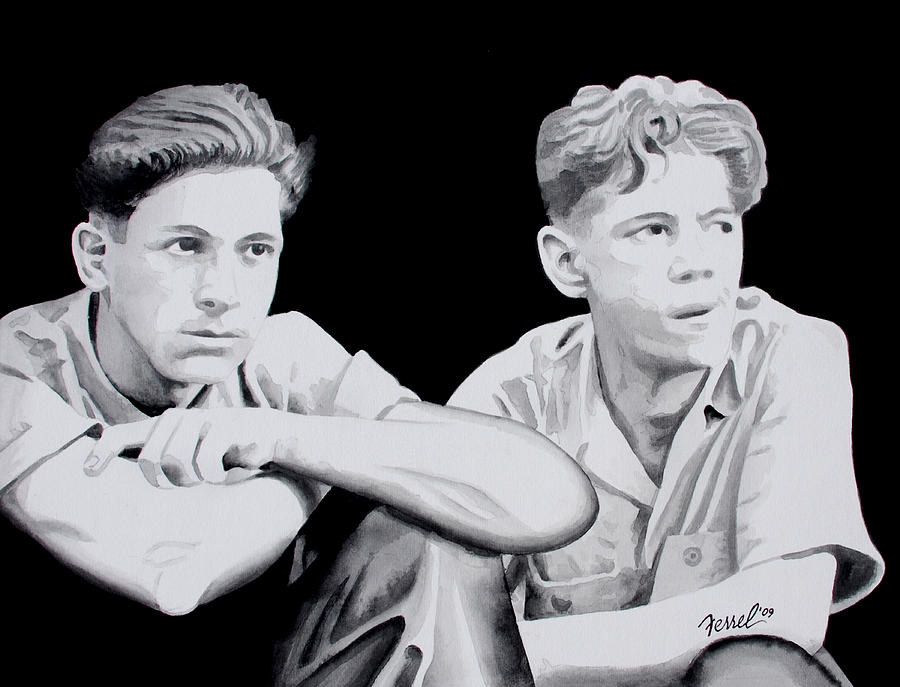 Brothers Painting - Brothers by Ferrel Cordle