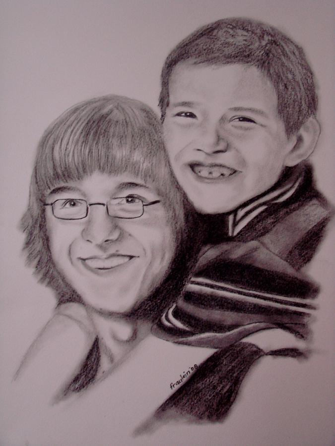 Portrait Drawing - Brothers For Life by Glory Fraulein Wolfe