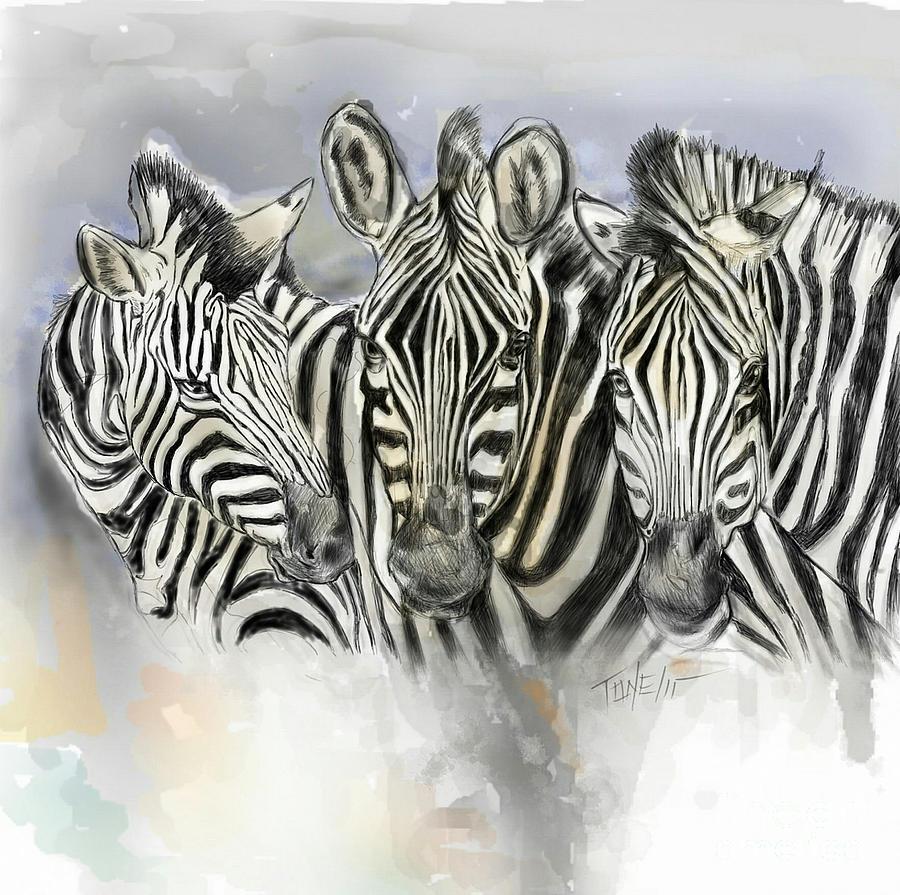 Zebra, Brothers Mixed Media