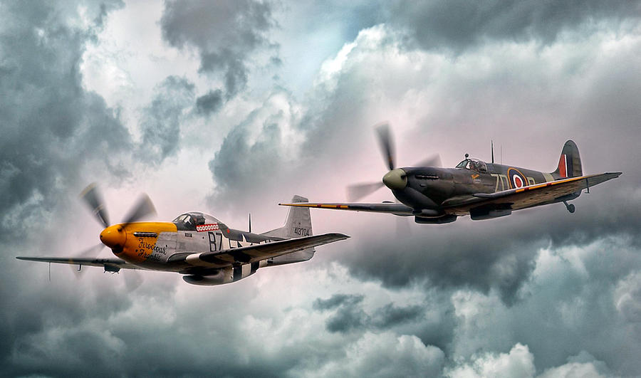P51 Digital Art - Brothers In Arms by Peter Chilelli