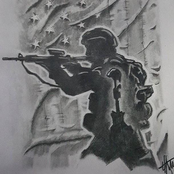 Soldier Drawing - Brothers Memory by Howard King