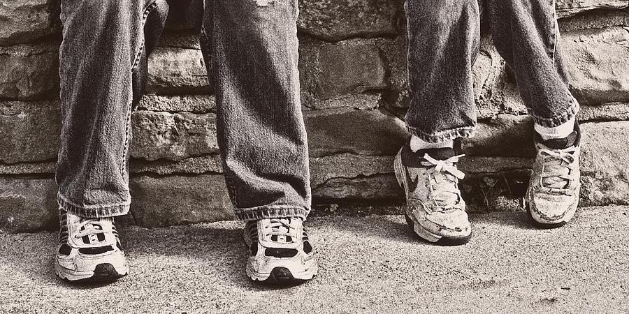 Feet Photograph - Brothers by Tom Mc Nemar