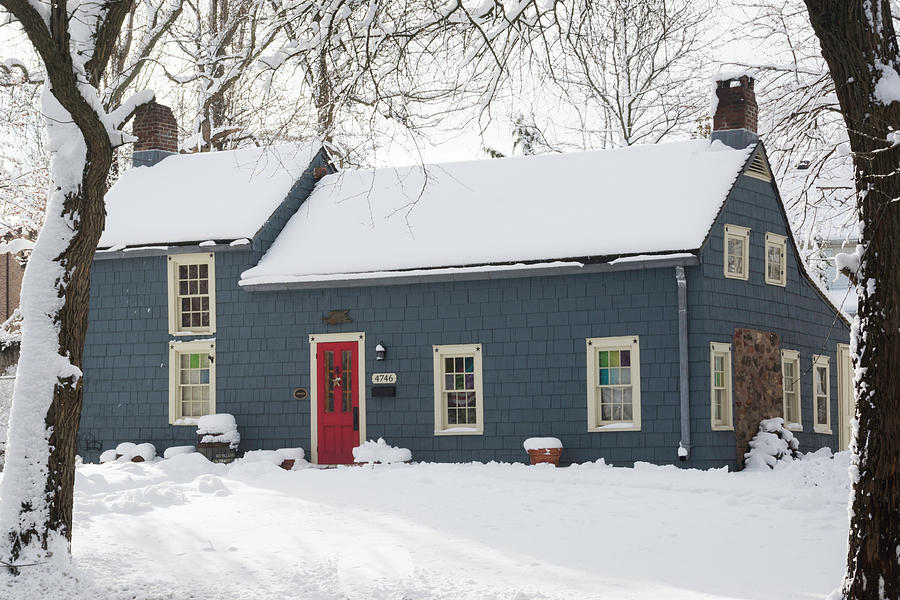 Brougham Cottage after the snow storm by Kenneth Cole