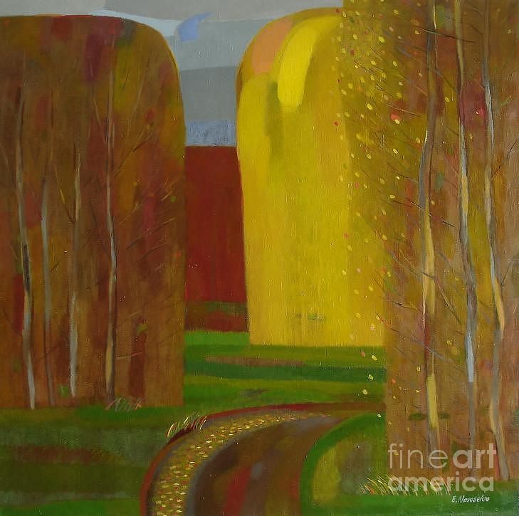 Landscape Painting - Brown Autumn by Evgeny  Novoselov