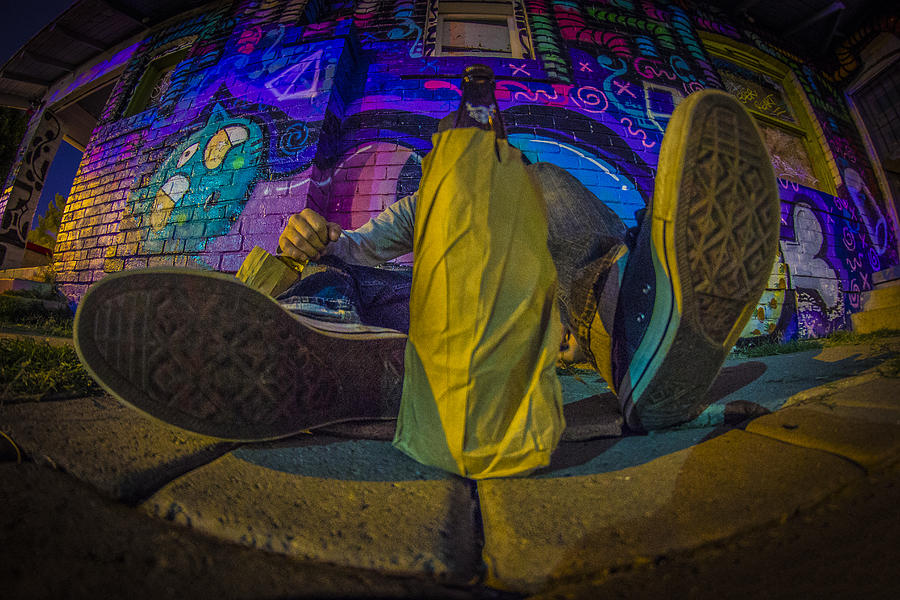 Graffiti Photograph - Brown Bag Escape by Kyle Field