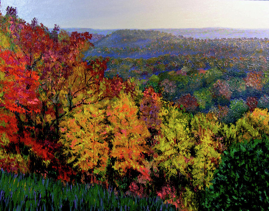 Landscape Painting - Brown County Autumn by Stan Hamilton