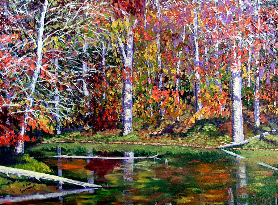 Fall Painting - Brown County In Fall by Stan Hamilton