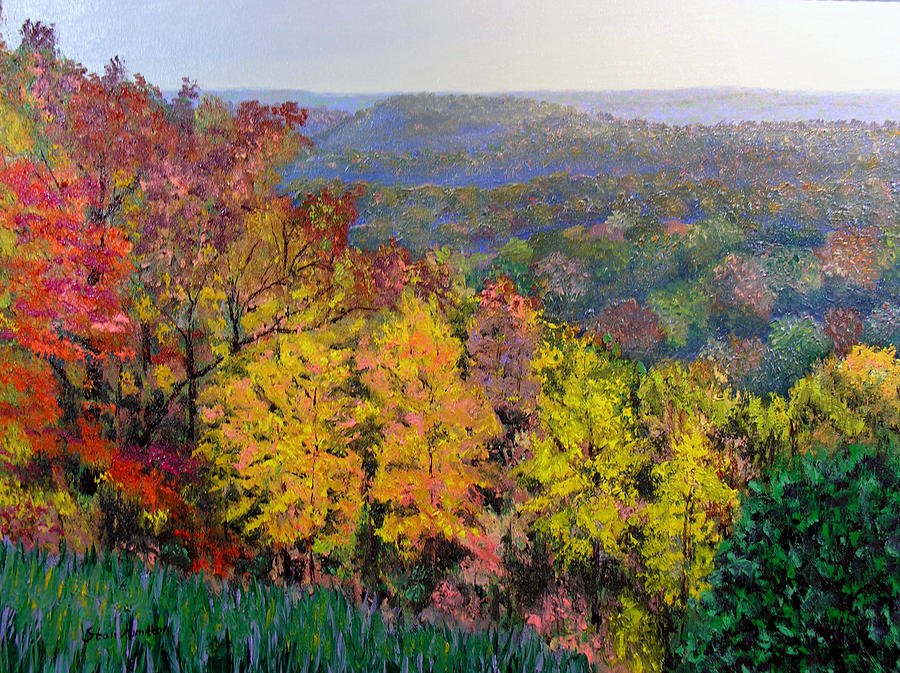 Fall Painting - Brown County Vista by Stan Hamilton