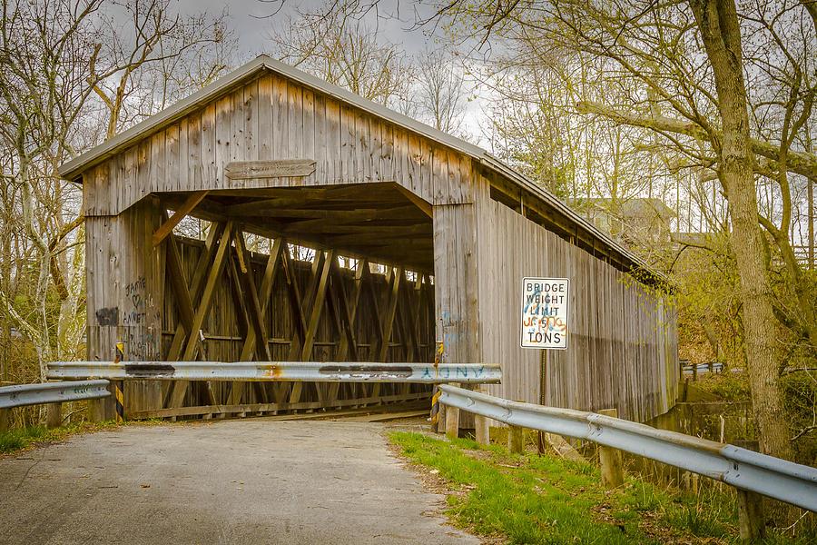 Brown Covered Bridge Photograph