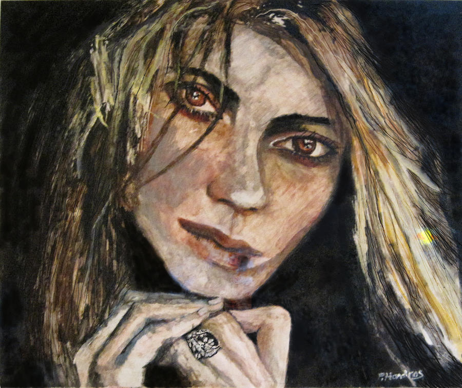 Girl Painting - Brown Eyed Girl by Penfield Hondros