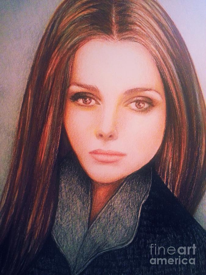 Brown Eyed Girl Drawing By Veronica Gabriel