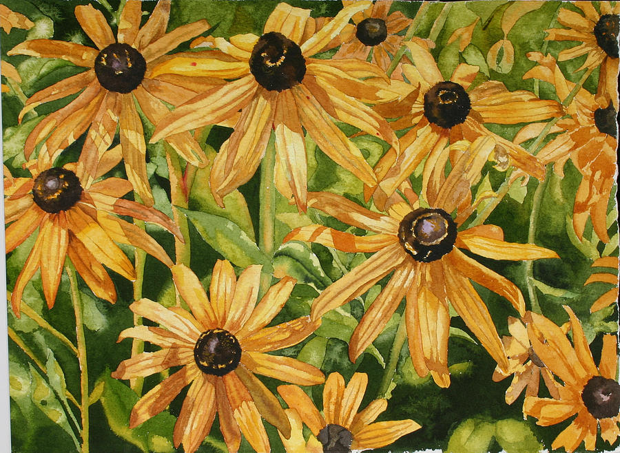 Floral Painting - Brown Eyes by Helen Shideler