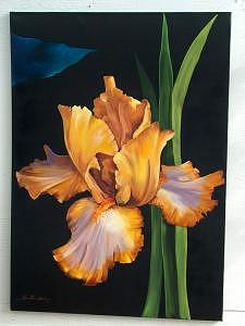 Oil Painting - Brown Iris by Stan  Sternbach