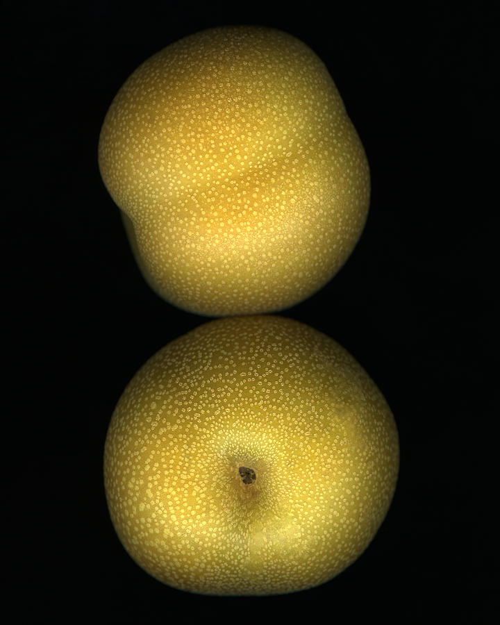 Yellow Photograph - Brown Pear Pair by Marsha Tudor
