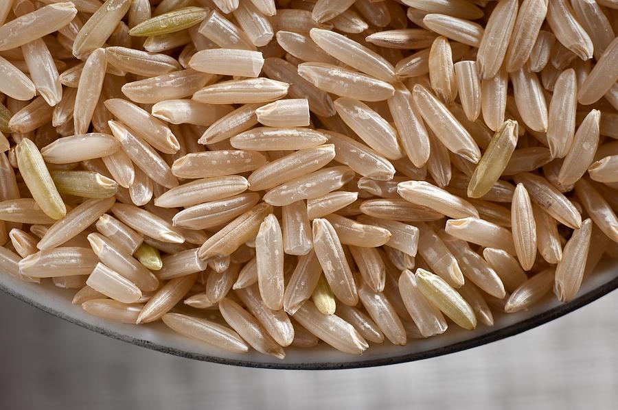 Wild Photograph - Brown Rice In Bowl by Steve Gadomski