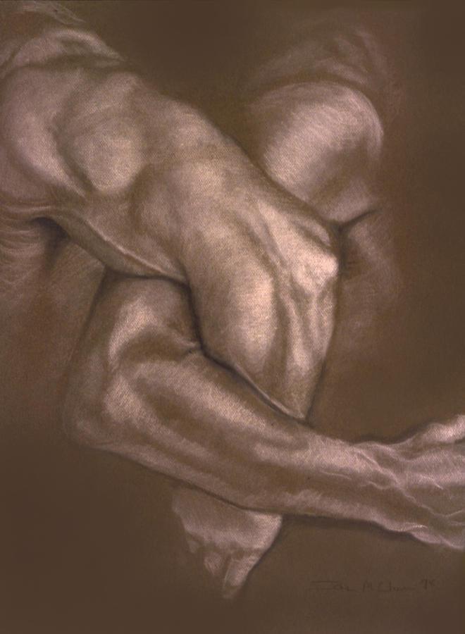 Men Painting - Brown Series Vi by John Clum