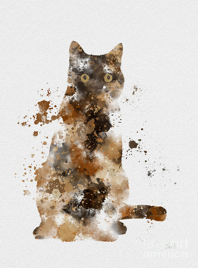 Cat Mixed Media - Brown Tabby by My Inspiration