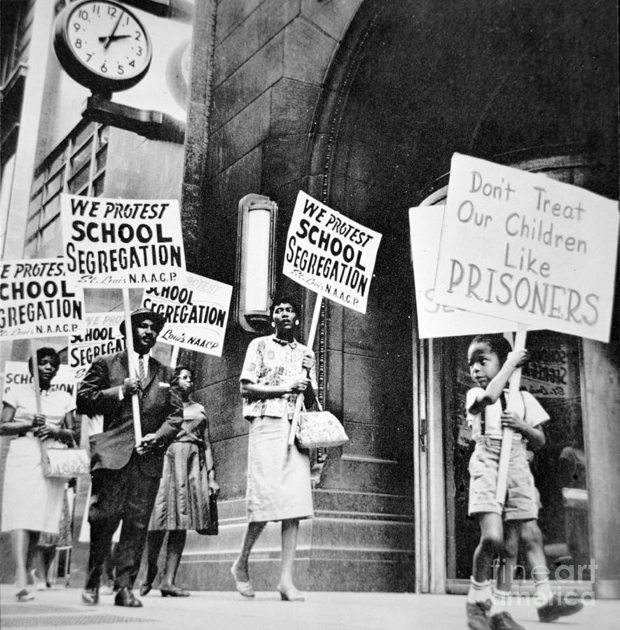 Civil Rights Photograph - Brown Vs Board Of Education by American School