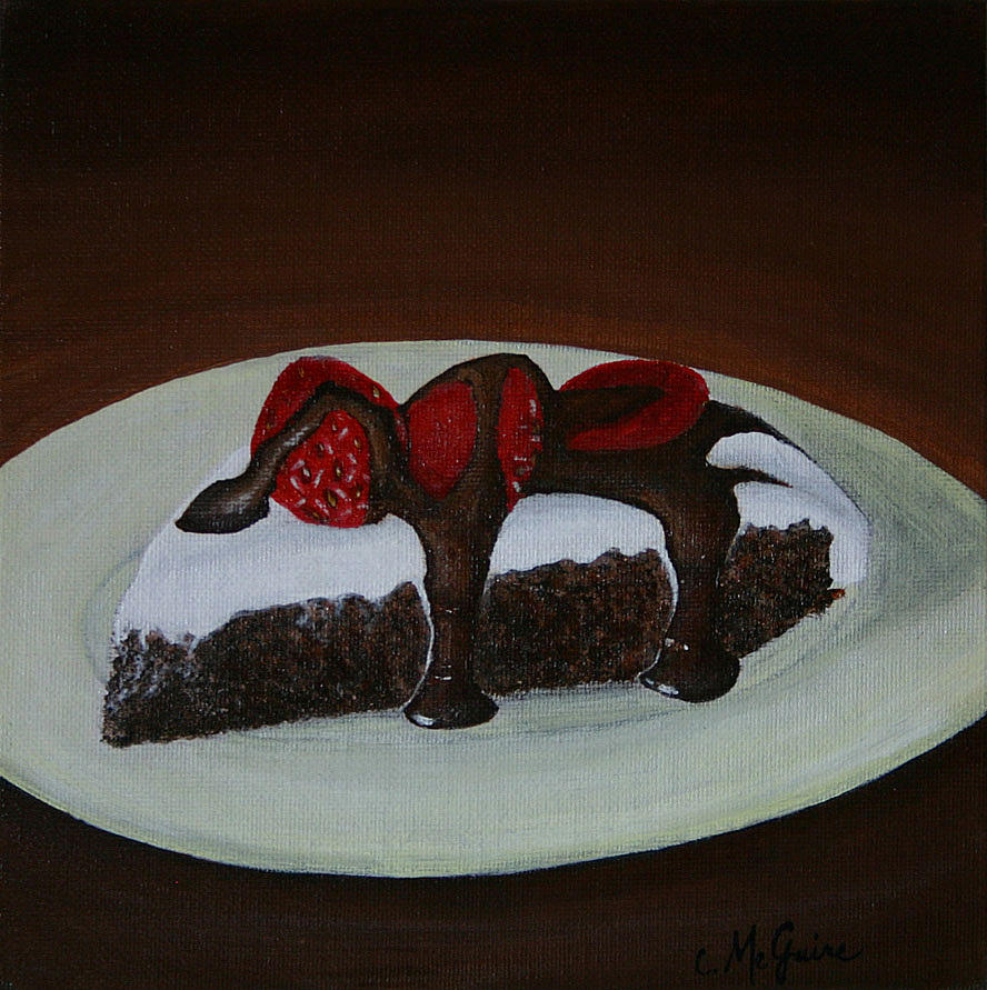 Still Life Painting - Brownie Pie by Christy McGuire