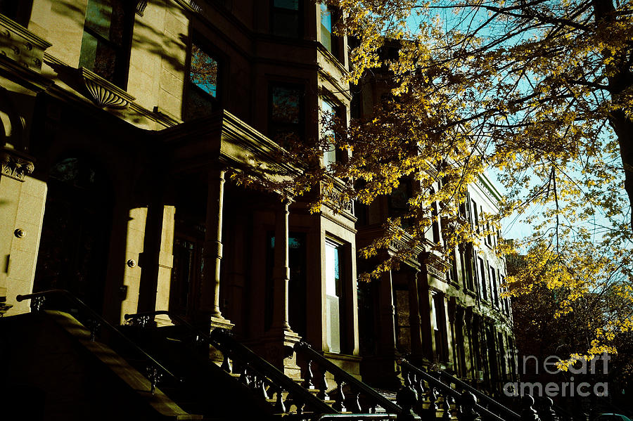 Brownstones at Dusk by Onedayoneimage Photography