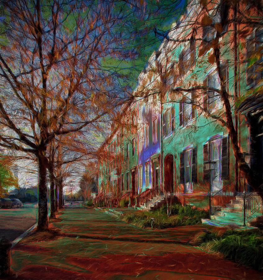 Brownstones Photograph - Brownstones At Lafayette Park by Ericamaxine Price