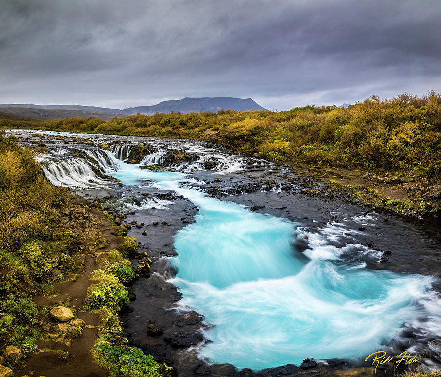 Bruarfoss in the gloom by Rikk Flohr