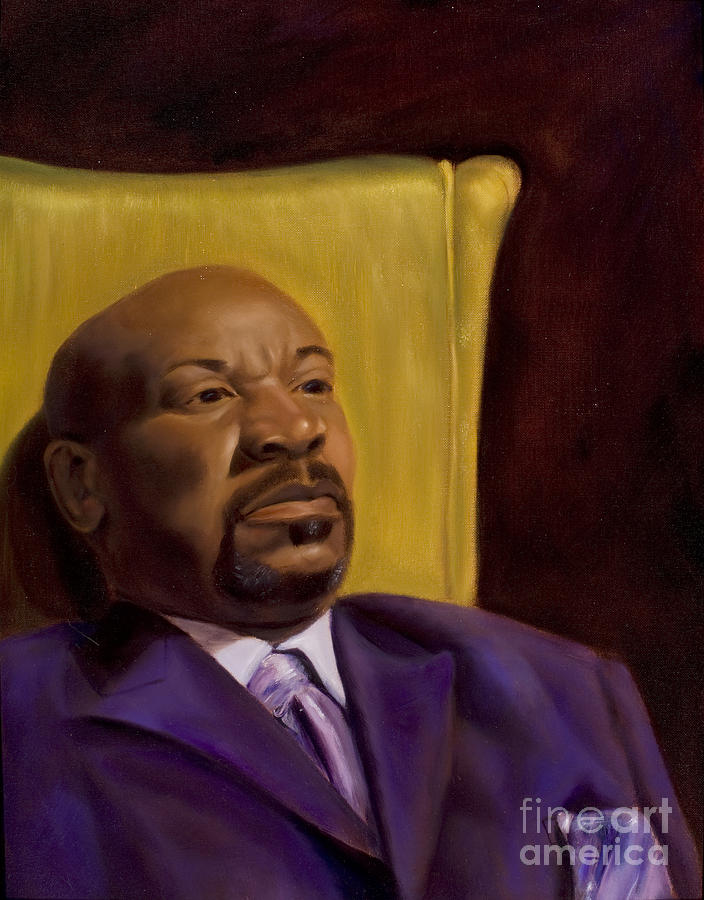 Portrait Painting - Bruce and His Purple Suit - 2009 by Serena Van Vranken